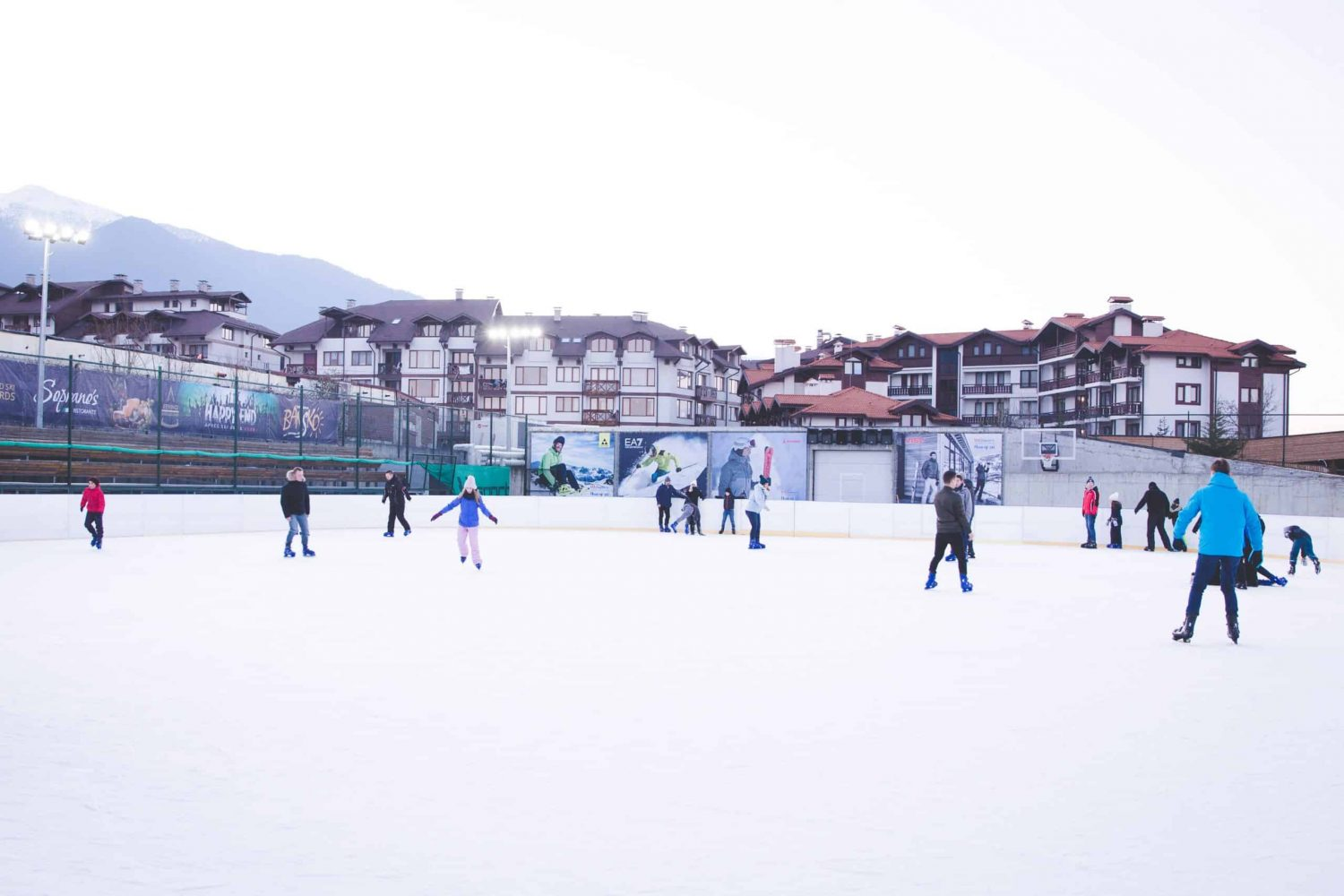 The ice skating rink in Bansko, Bulgaria