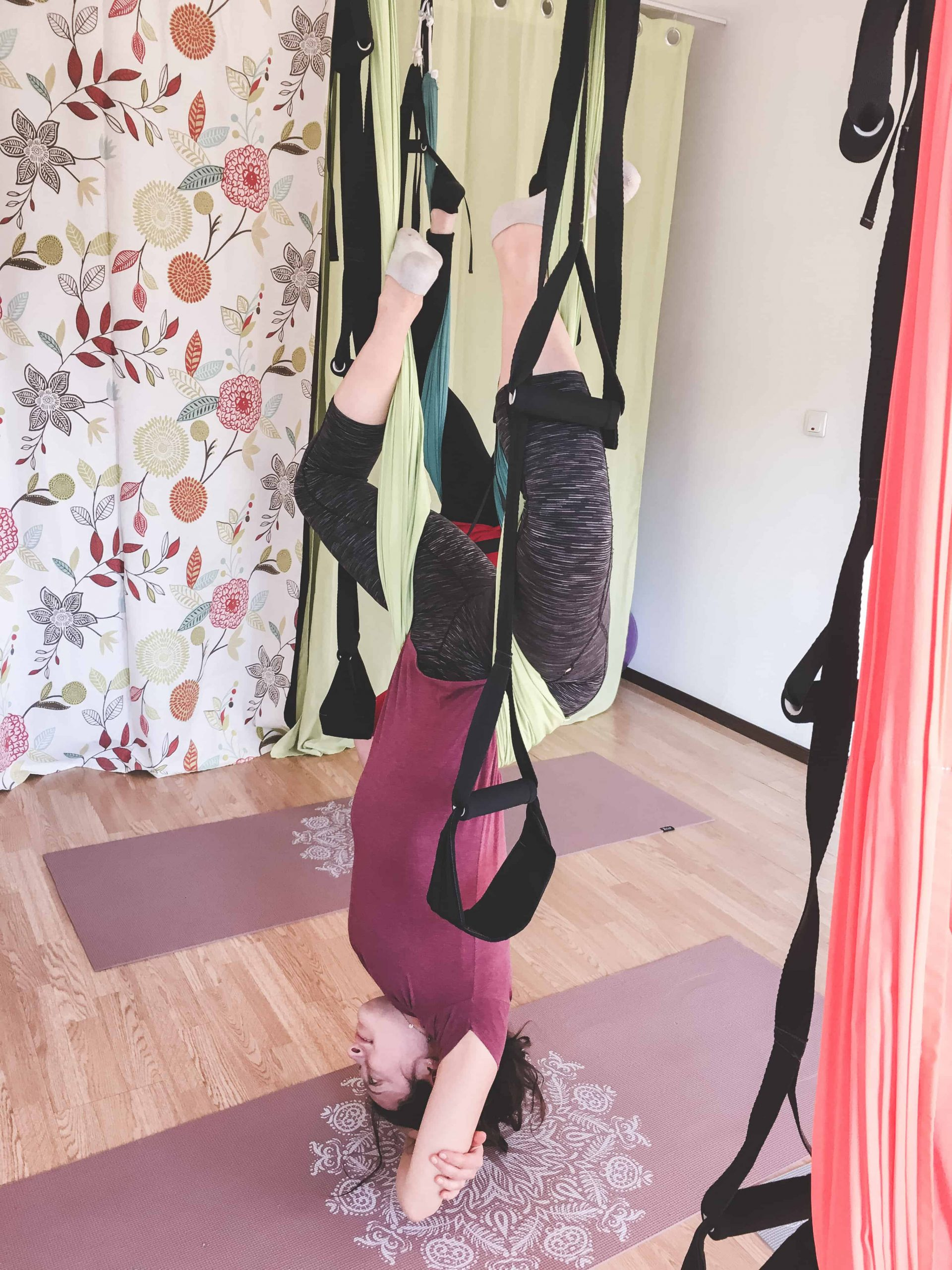 Aerial Yoga at Club Hanuman in Bansko, Bulgaria