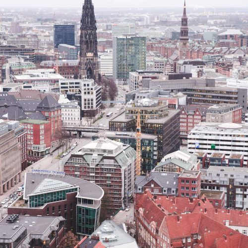 Hamburg as viewed from St. Michel Cathedral