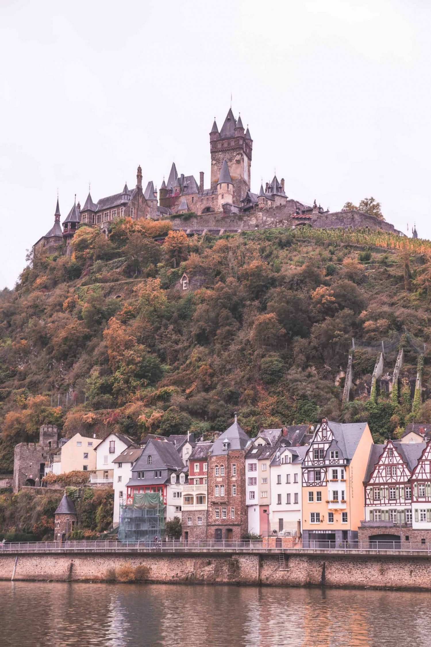 Cochem Castle in Germany in the fall! Cochem Castle is a great destination to visit in 2020, and one of my favorites from 2019.