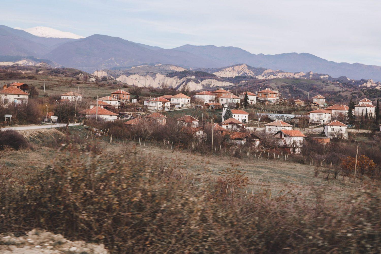 View of houses near Melnik, Bulgaria.