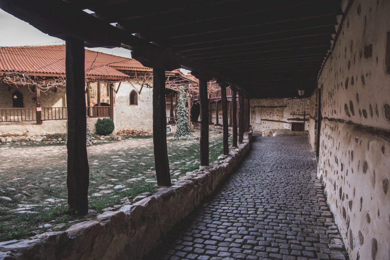Inside the Rozhen Monastery in Melnik, Bulgaria.