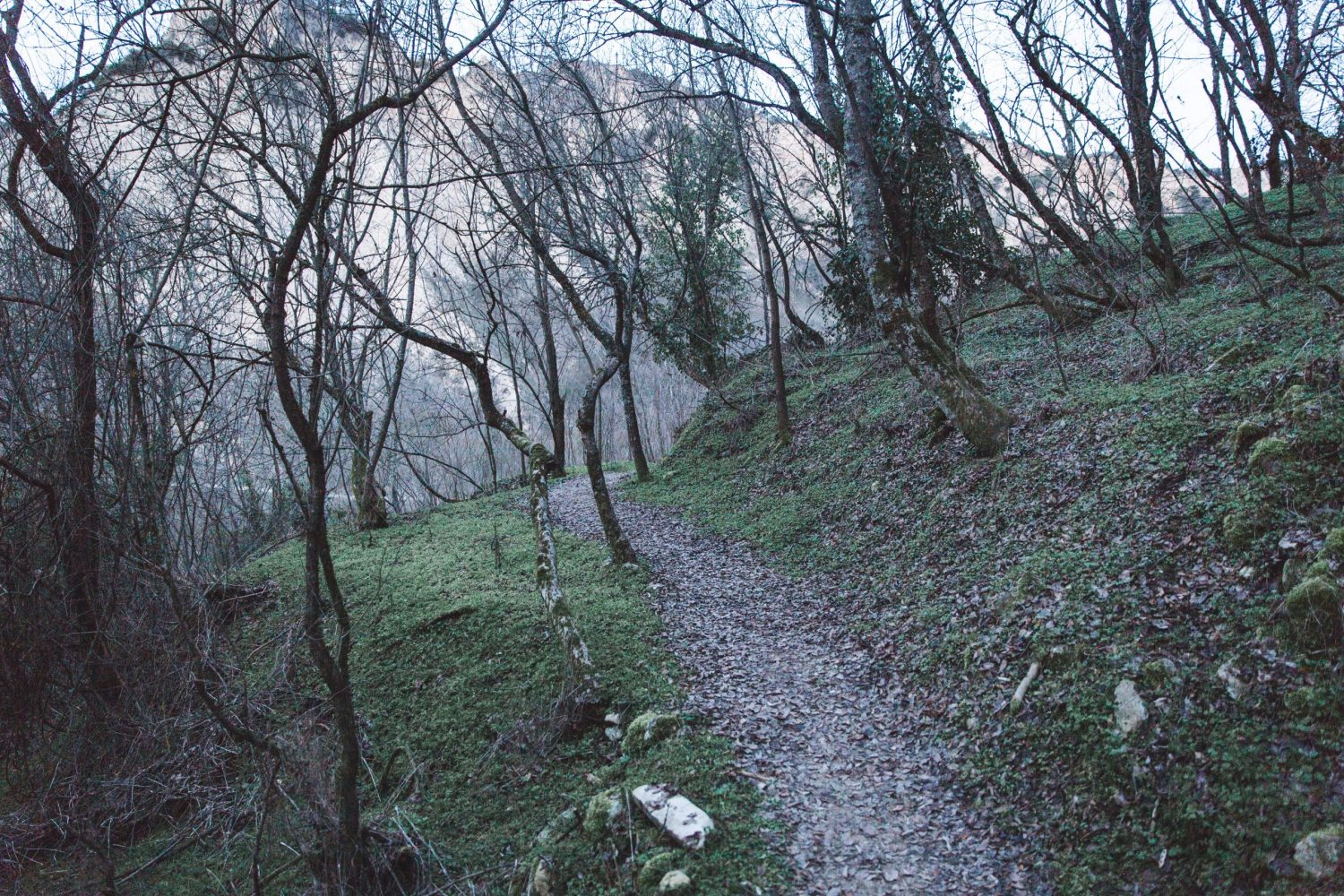 "The trail to Monastery ""Virgin Bogoroditsa Spileotisa"" in Melnik, Bulgaria."