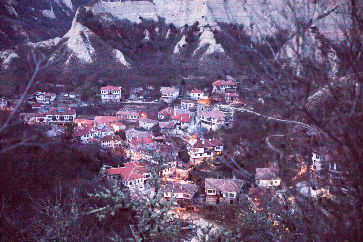 "View of the town Melnik from the Monastery ""Virgin Bogoroditsa Spileotisa"" in Bulgaria."