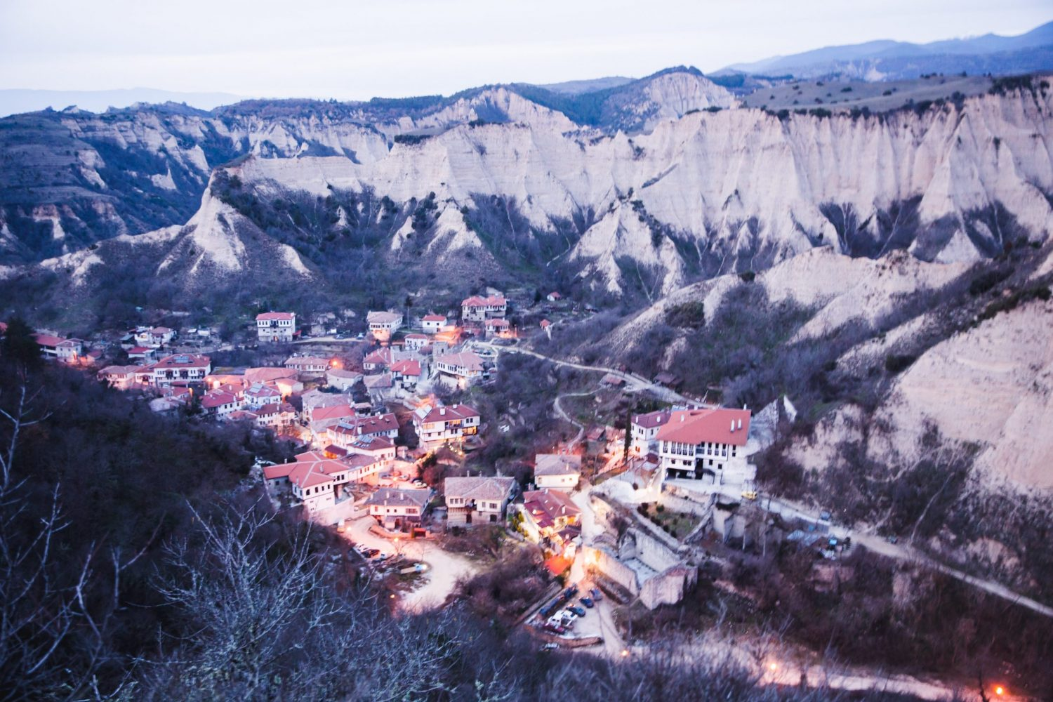 "View of Melnik from the Monastery ""Virgin Bogoroditsa Spileotisa"" in Bulgaria."
