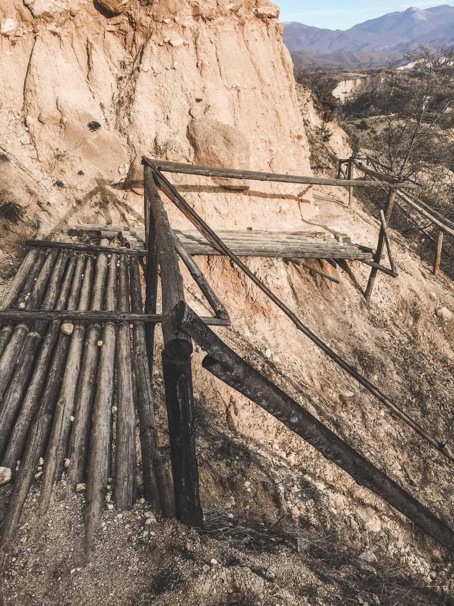 Trail from Melnik to the Rozhen Monastery in Melnik, Bulgaria
