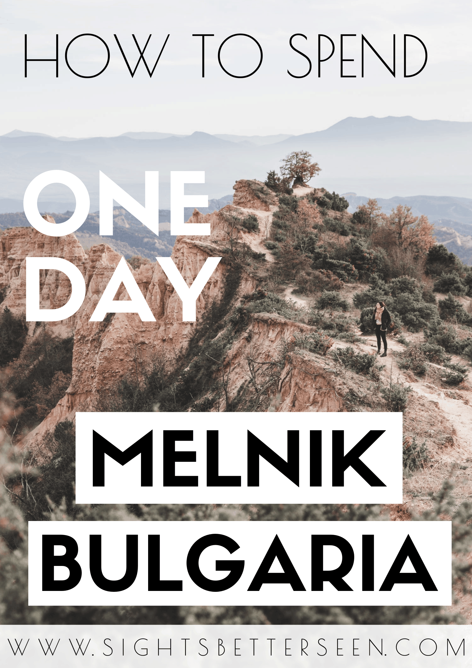 One day itinerary for Melnik, Bulgaria including wine, the Rozhen Monastery, Melnik Pyramids, and the best view of the town! Melnik is the smallest town in Bulgaria known for its wineries.