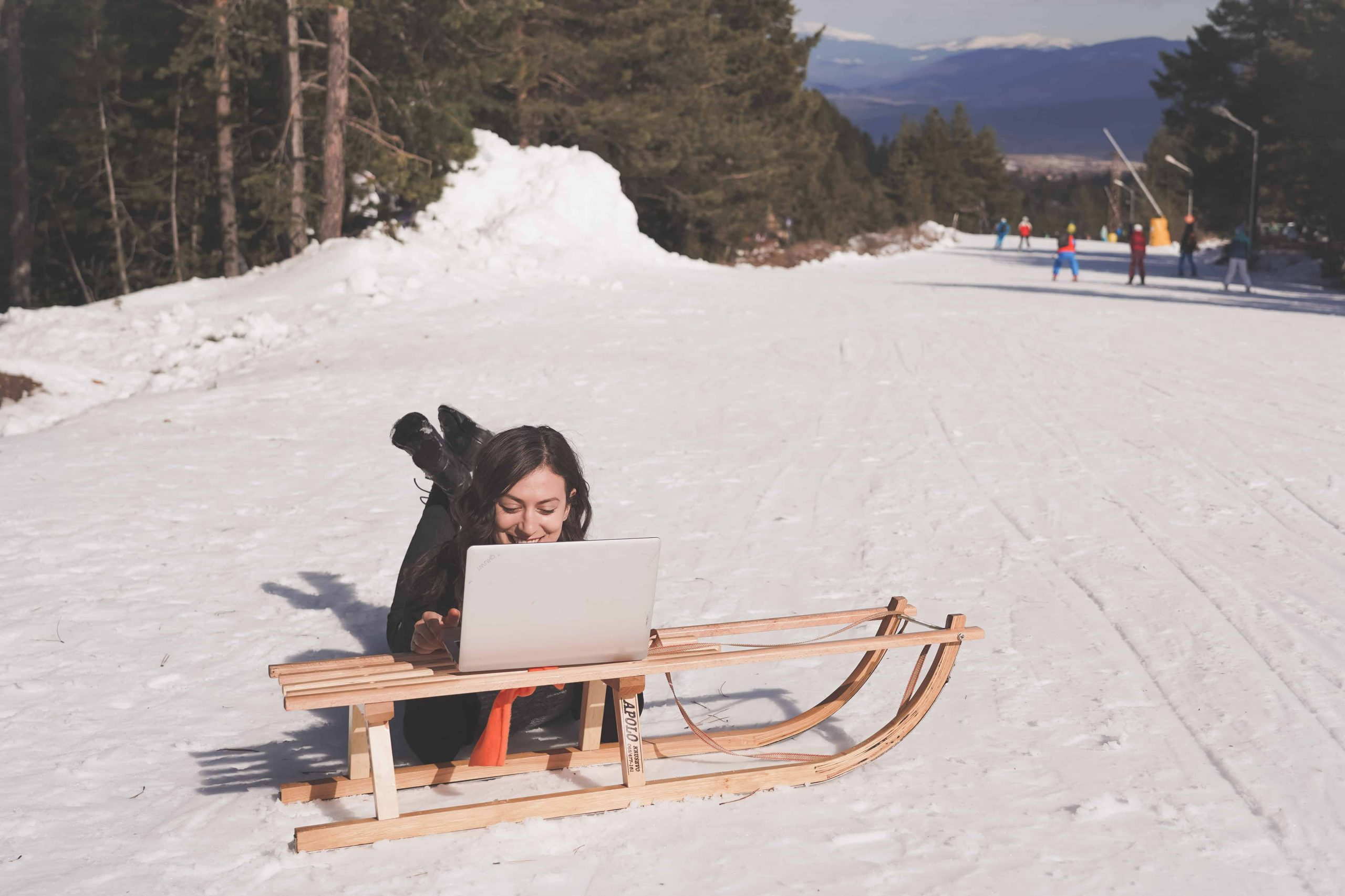 Freelance writing is a great remote job to have - you can even do it in the snow!