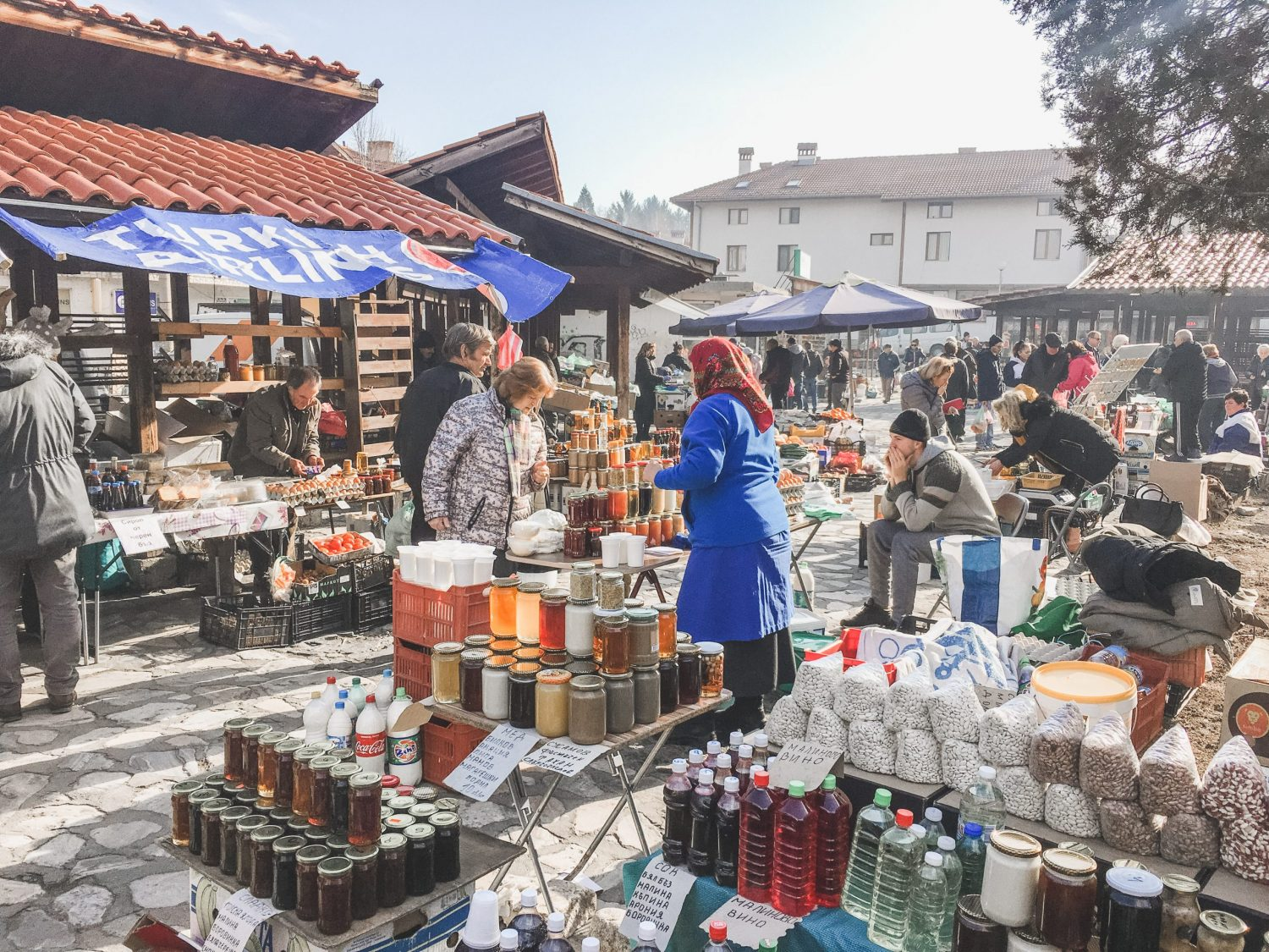 The Sunday Market in Bansko, Bulgaria