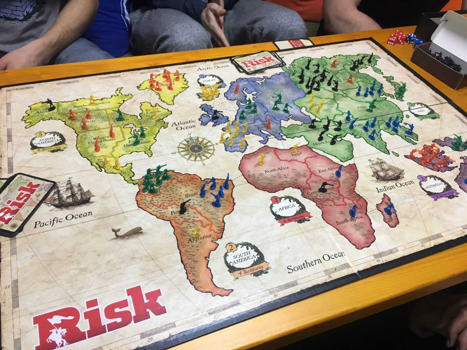 Risk at Coworking Bansko's game night