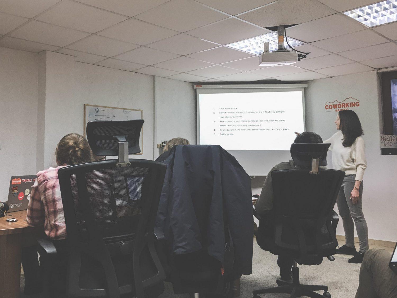 A presentation at Coworking Bansko