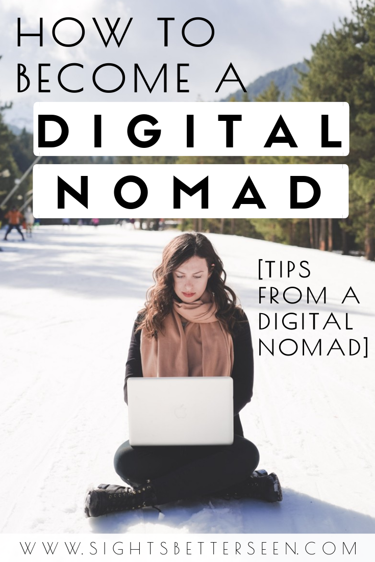 Tips for becoming a digital nomad and traveling the world while you work remotely! These are my tips and tricks after living the digital nomad lifestyle for a year. Learn what you need to prepare, nomad hot spot destinations, how and where to find a remote job, and more to help you live a location independent lifestyle.