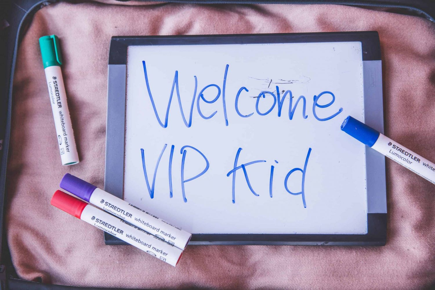 A whiteboard is an important prop for VIP Kid teachers