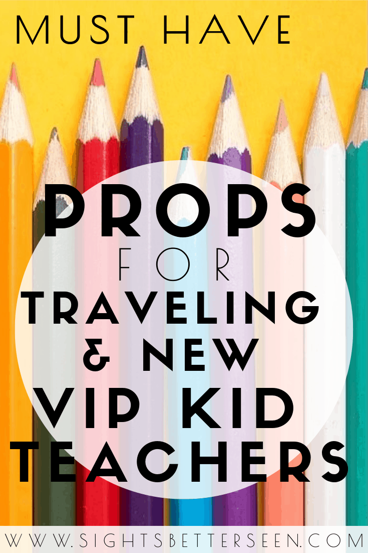Must have props for traveling and new VIP Kid and online English teachers!