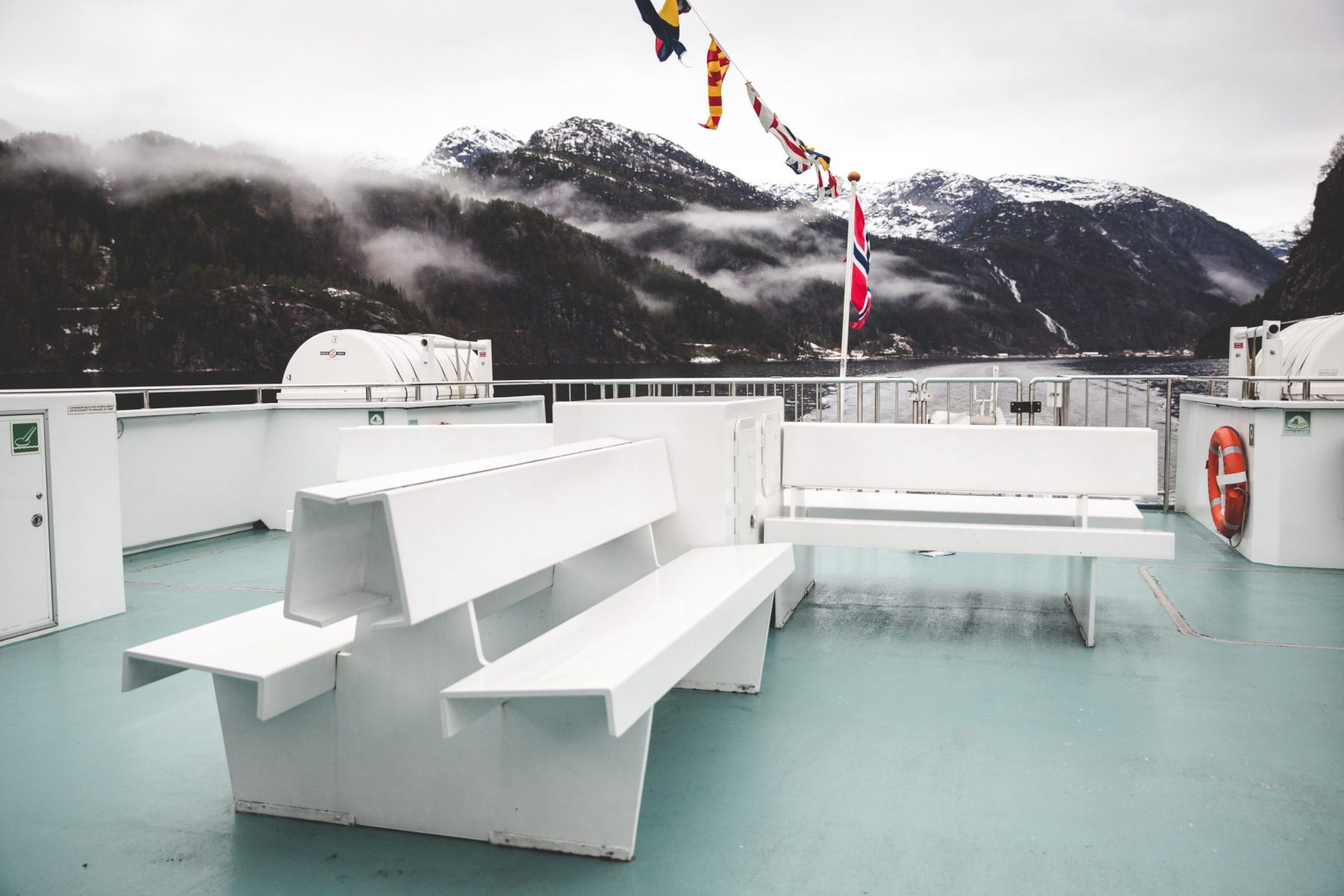 Boat Deck of the Rødne Fjord Cruise Boat