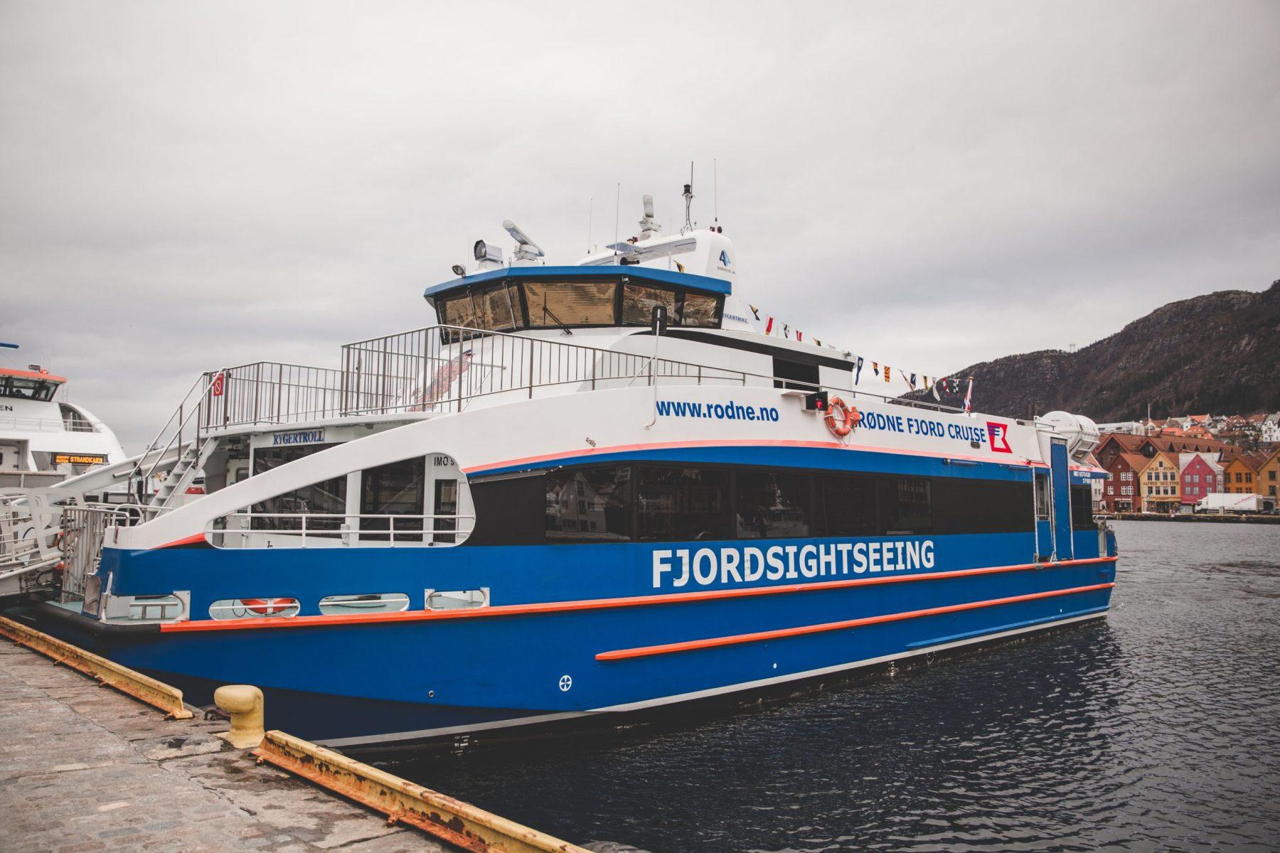 Rødne Fjord Cruise Boat in Bergen, Norway
