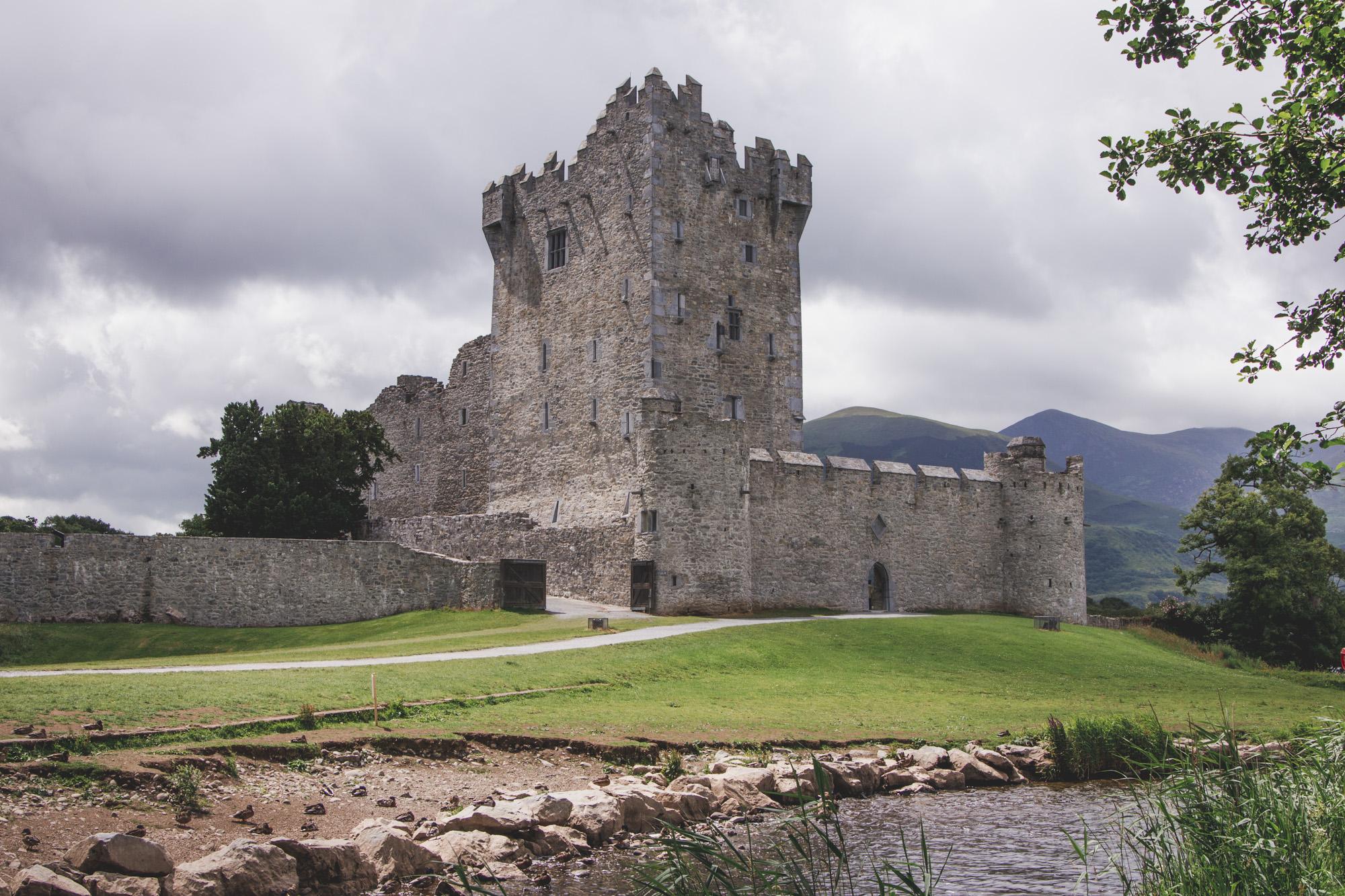 Ross Castle in Killarney National Park in Ireland
