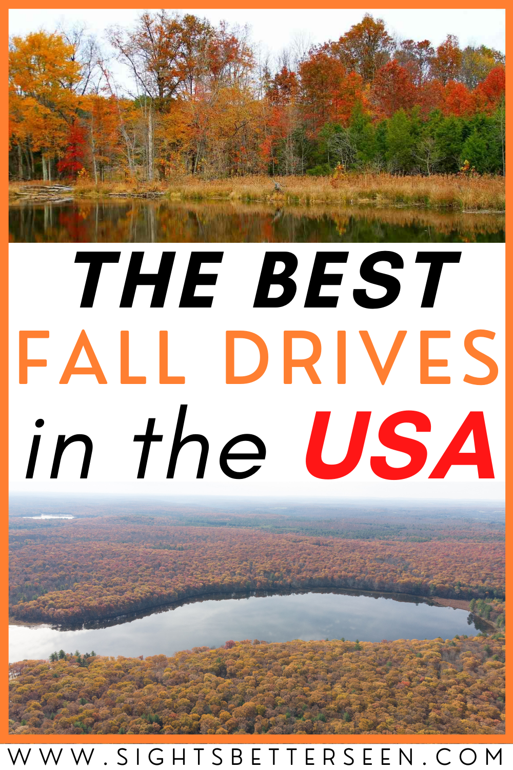 Fall colors in the Poconos mountains and along River Road