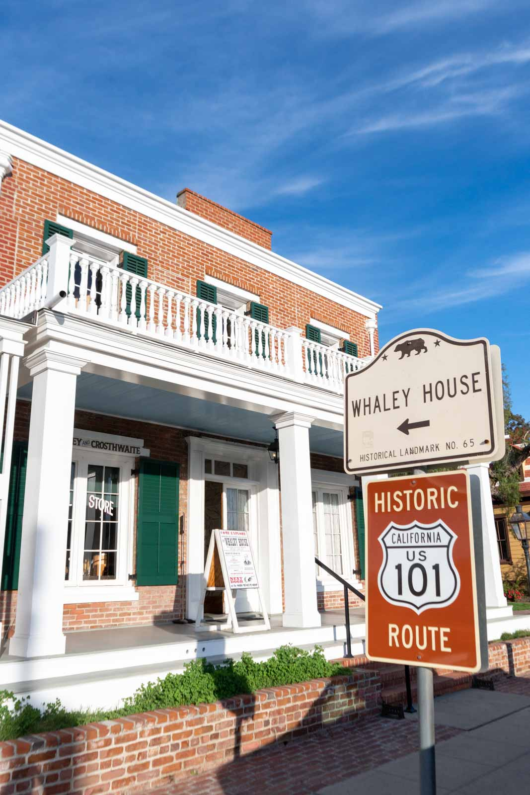 Whaley House Exterior in Old Town San Diego