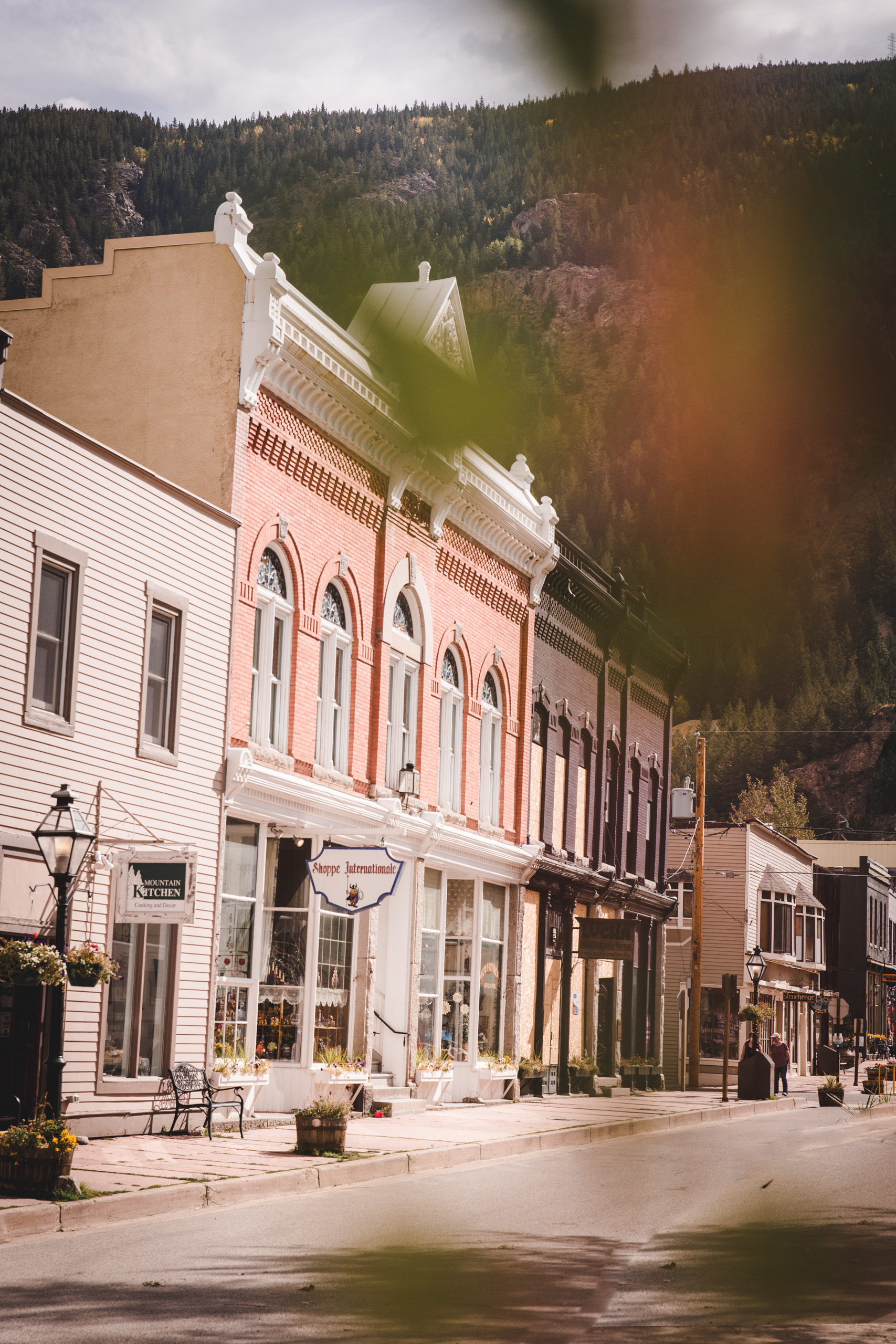Colorful old Western Buildings in Georgetown in Colorado