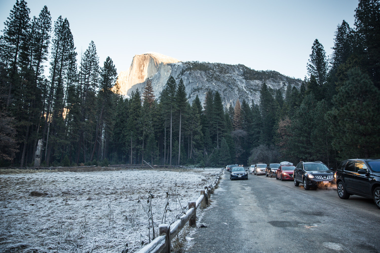 Traffic in Yosemite