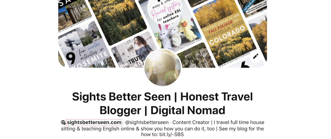"""Pinterest page: Text says: """"Sights Better Seen 