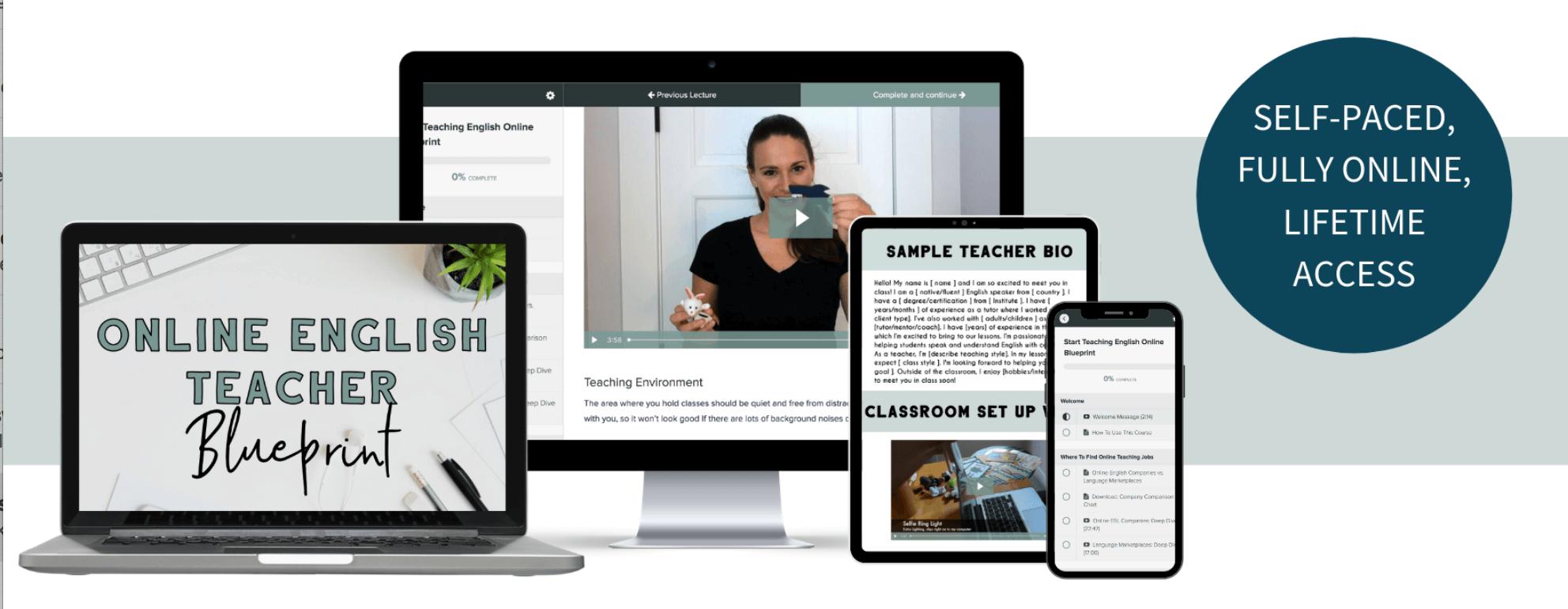 online English teacher blueprint teaching materials