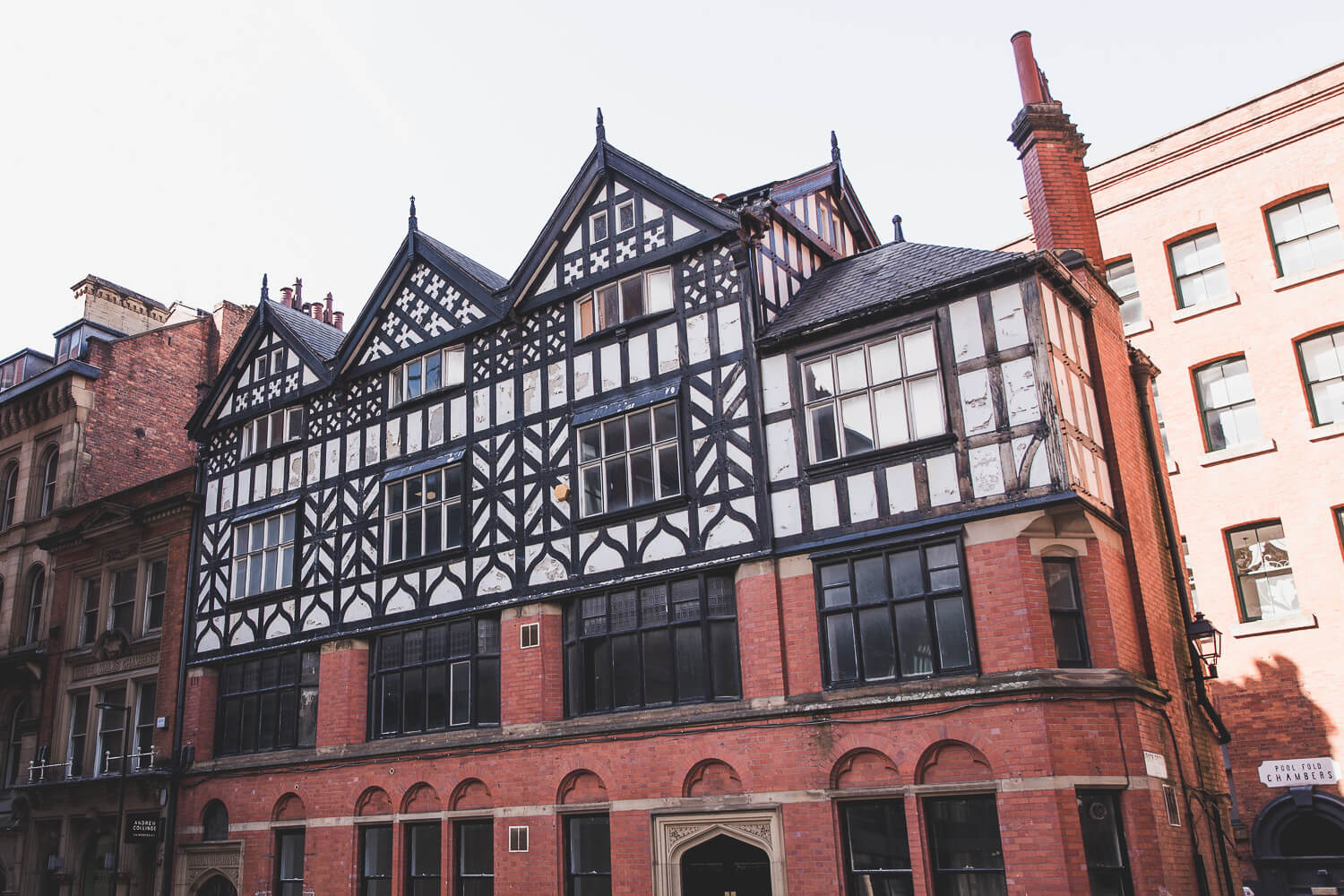Half-Timbered Buildings in Manchester, UK