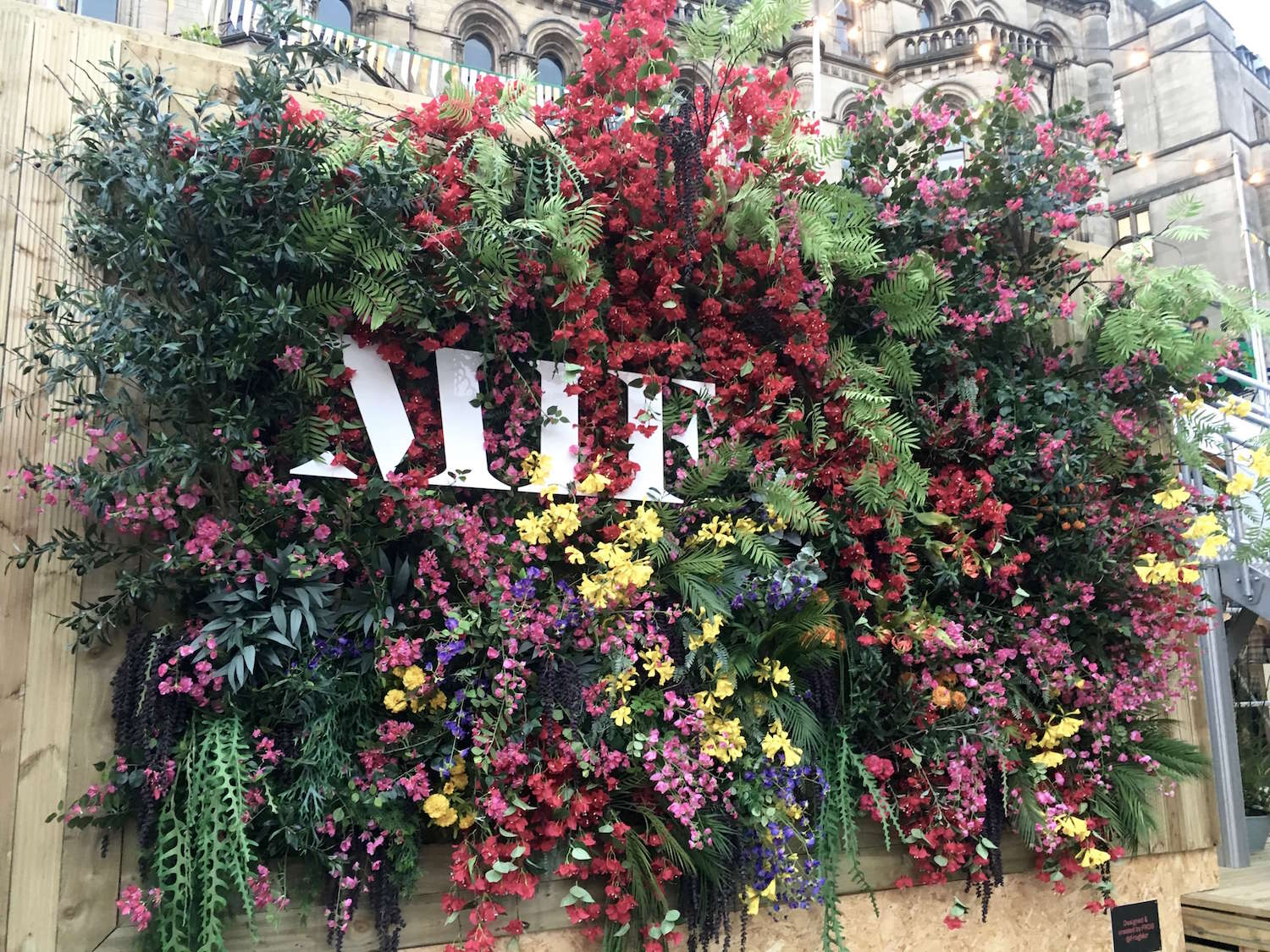 MIF Festival Manchester with flowers