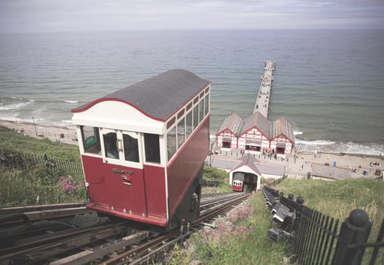 Riding the Saltburn Cliff Tramway is one of the best things to do in Saltburn-by-the-Sea, England